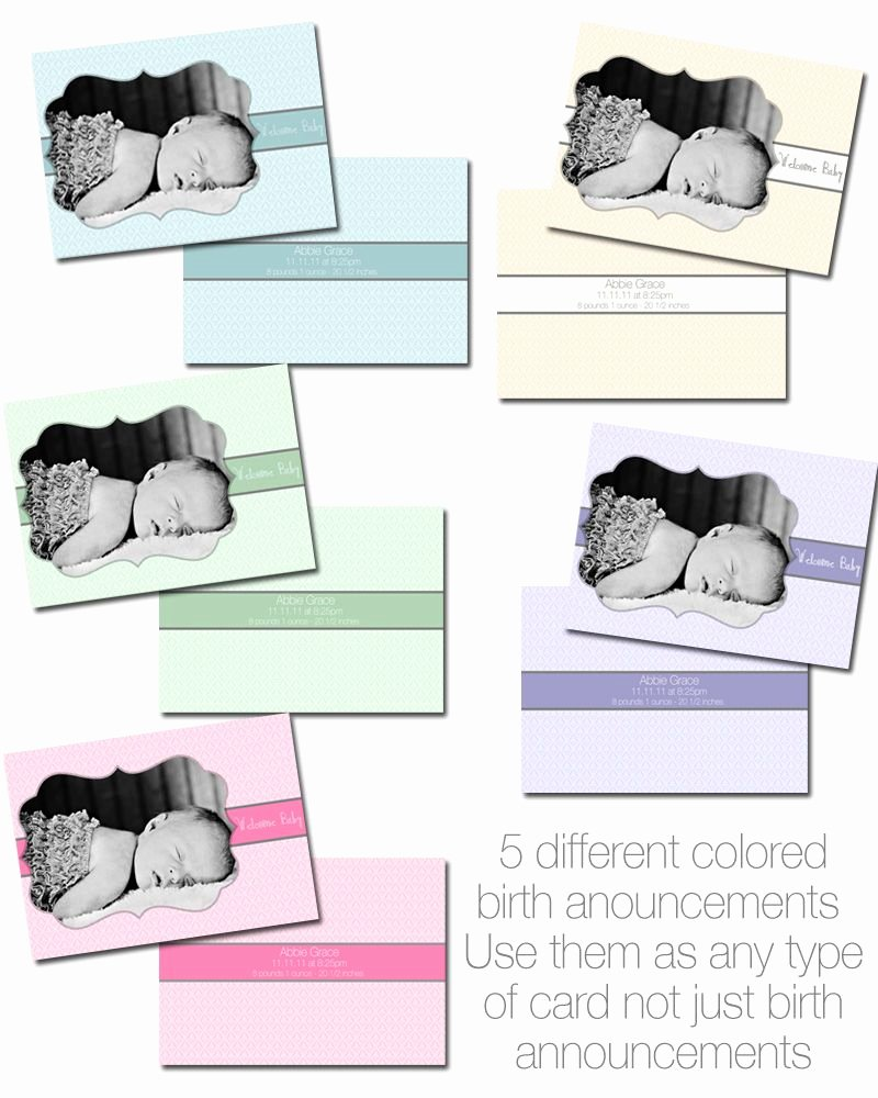 Free Birth Announcements Templates Awesome Free Birth Announcement Templates From Goldygatets Graphy