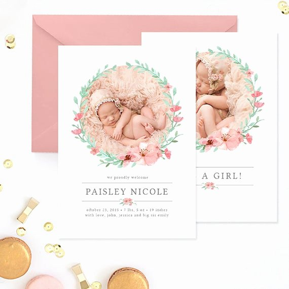 Free Birth Announcements Templates Beautiful Birth Announcement Template Birth Announcement Template Girl