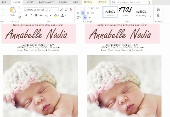 Free Birth Announcements Templates Best Of How to Make Child Birth Announcement Cards In Word