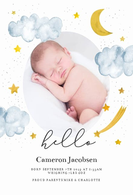 Free Birth Announcements Templates Unique Baby Birth Announcement Templates Free