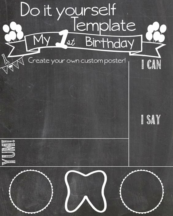 Free Birthday Chalkboard Template Awesome Pinterest • the World's Catalog Of Ideas