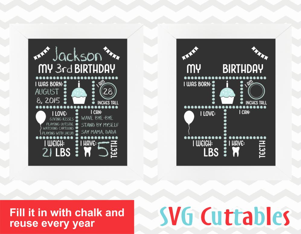 Free Birthday Chalkboard Template Inspirational Birthday Chalkboard sofontsy