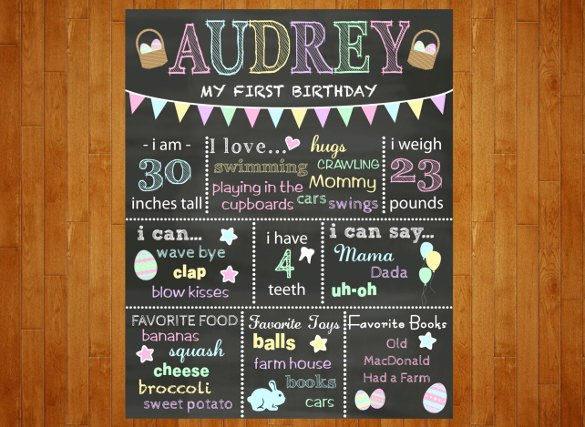 Free Birthday Chalkboard Template Lovely 15 Easter Poster Templates Psd Illustrator Apple