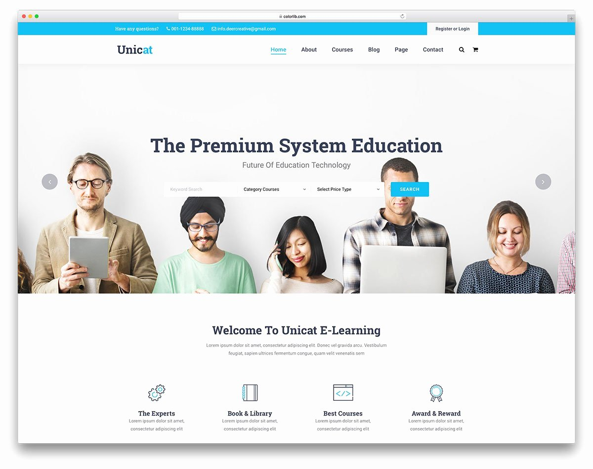 Free Blogger Templates for Teachers Best Of 30 Best Free and Premium Education Website Templates 2019 Colorlib