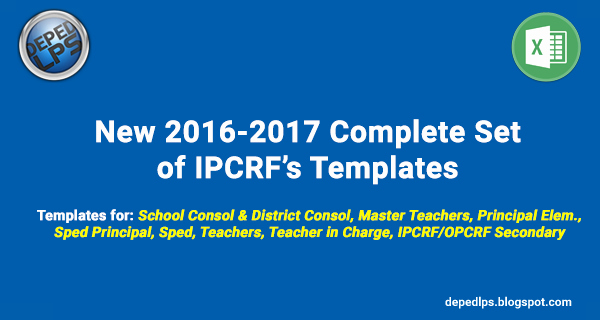 Free Blogger Templates for Teachers Best Of New 2016 2017 Plete Set Of Ipcrf Templates Deped Lp S