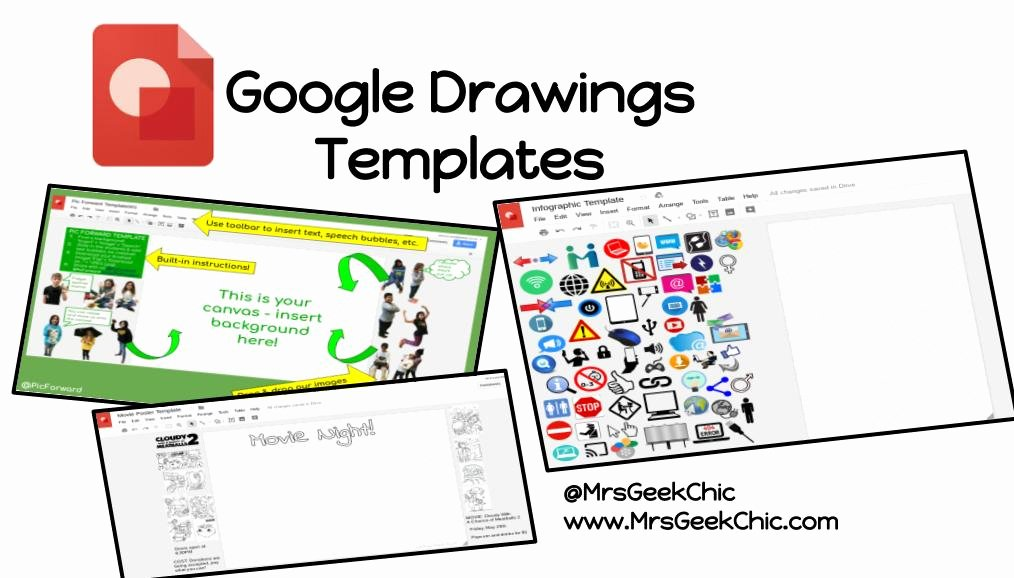 Free Blogger Templates for Teachers Elegant Google Drawings Templates How to & Free Template Mrs Geek Chic
