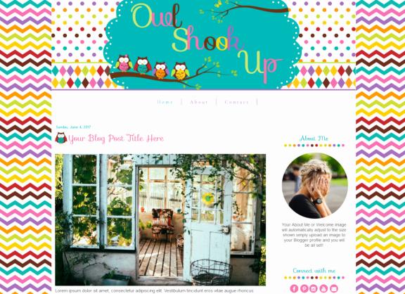 owl shook up blog template