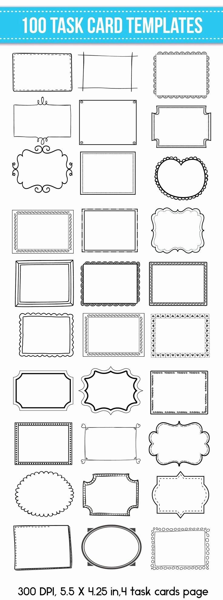 Free Blogger Templates for Teachers Lovely 100 Task Card Templates Flash Card Templates Editable for Mercial Use Editable Task Cards