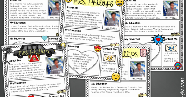 Free Blogger Templates for Teachers New Nyla S Crafty Teaching Meet the Teacher Letter Templates Editable In Different themes