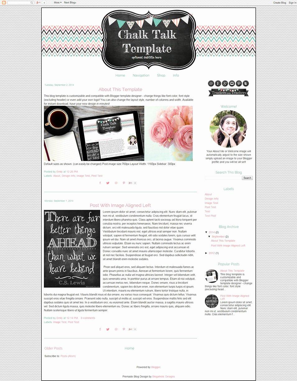 Free Blogger Templates for Teachers Unique Best Blog Templates & themes for Teachers