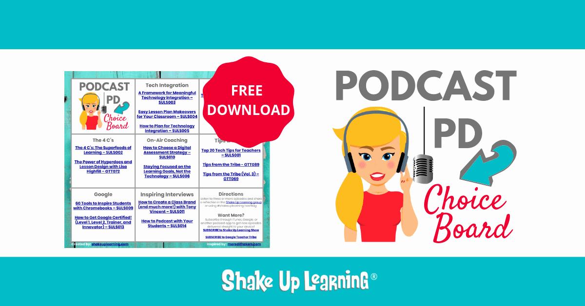 Free Blogger Templates for Teachers Unique Podcast Pd Choice Board for Teachers Free Template