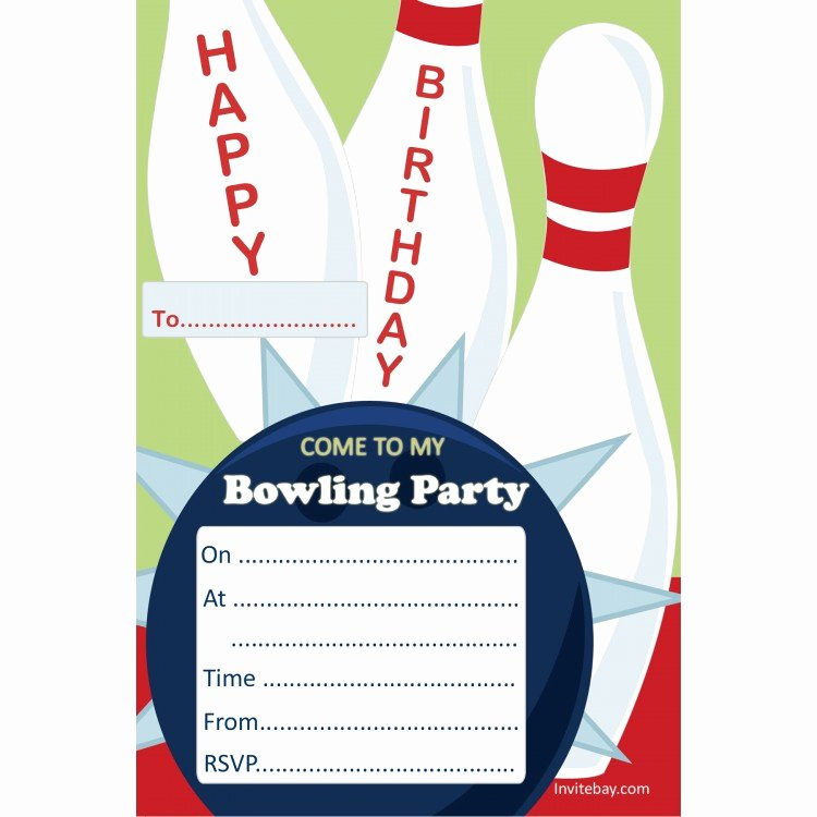 Free Bowling Invitation Template Beautiful Free Free Printable Bowling Birthday Invitations Download