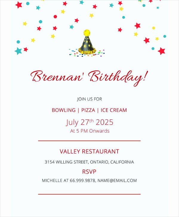Free Bowling Invitation Template Elegant 17 Bowling Party Invitation Designs & Templates Psd Ai