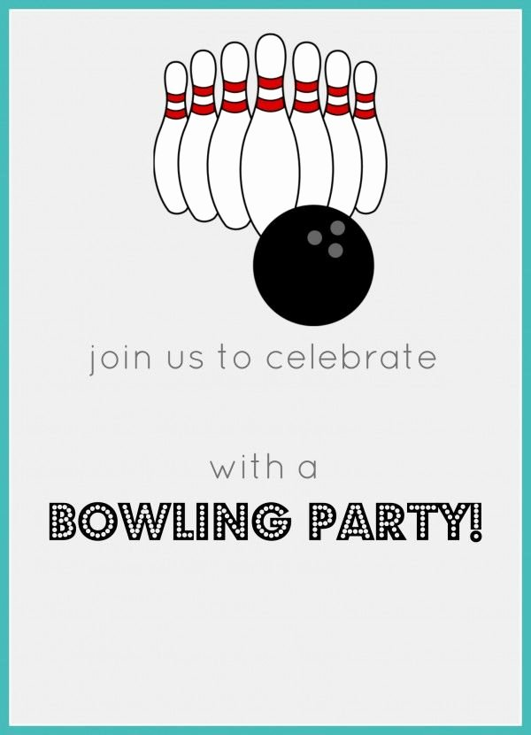 Free Bowling Invitation Template Fresh Best 25 Bowling Birthday Invitations Ideas On Pinterest