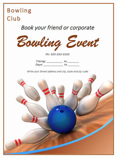 Free Bowling Invitation Template Inspirational Bowling Match Flyer Template Free Flyer Templates