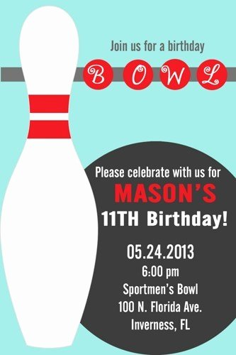 Free Bowling Invitation Template Unique Diy Printable Boy or Girl Bowling Party Invitations