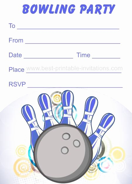 Free Bowling Invitation Template Unique Free Printable Bowling Invitations