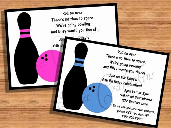 Free Bowling Invitations Template New Diy Printable Personalized Bowling Birthday Party Invitations Digital Files