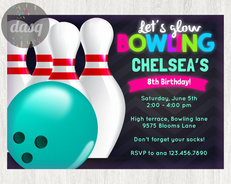 Free Bowling Invitations Template New Free Printable Bowling Birthday Invitations