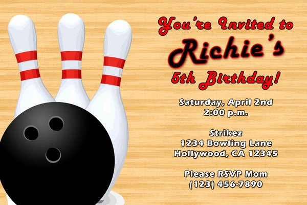 Free Bowling Party Invitations Awesome Bowling Invitations