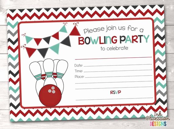 Free Bowling Party Invitations Inspirational Printable Bowling Party Invitation Fill In the Blank Birthday Party Invite Instant Download Pdf