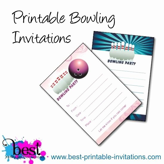 Free Bowling Party Invitations Unique Bowling Birthday Party Invitations