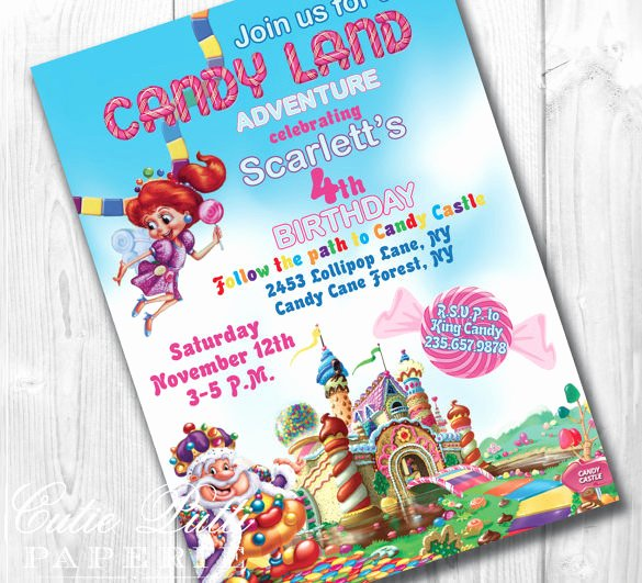 Free Candyland Invitation Template Beautiful 14 Wonderful Candyland Invitation Templates Psd Ai Word Indesign