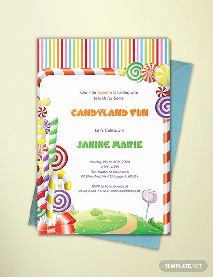 Free Candyland Invitation Template Best Of 14 Wonderful Candyland Invitation Templates Psd Ai Word Indesign