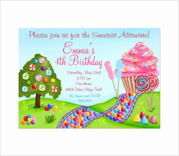 Free Candyland Invitation Template Best Of 26 Of Candy Land Letters Template