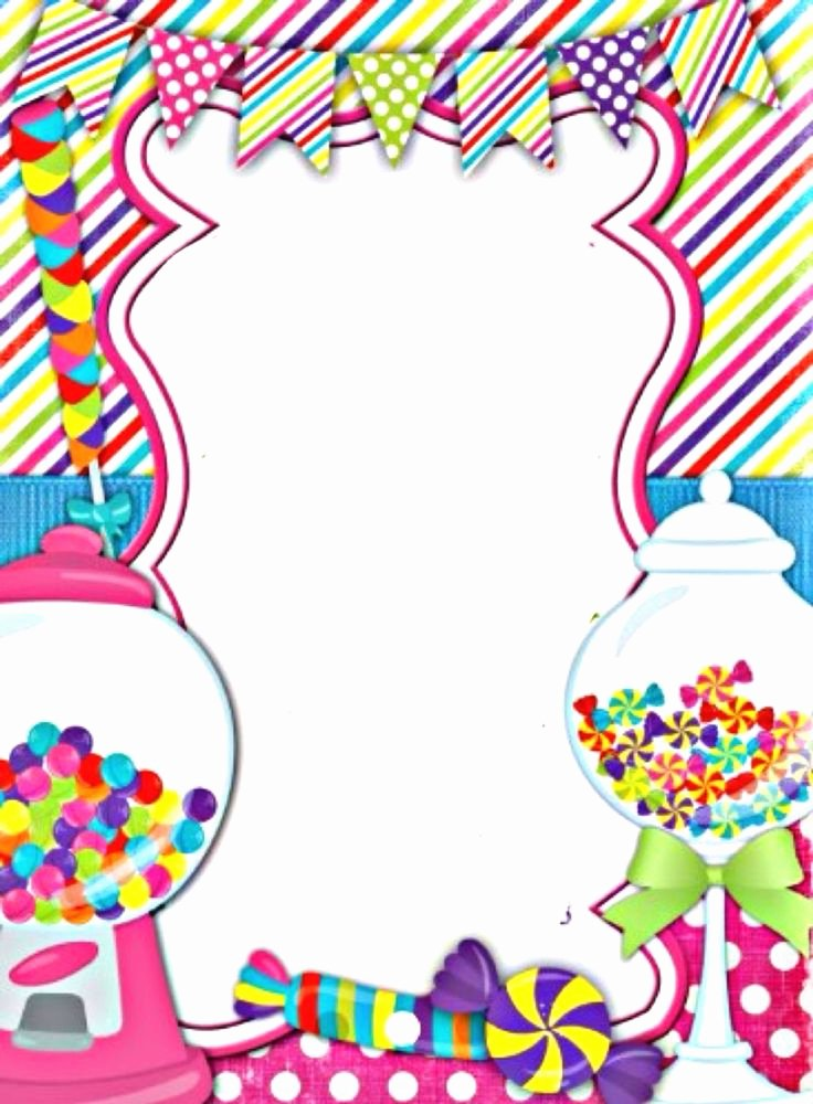 Free Candyland Invitation Template Elegant Sweet Shop Border Borders and Backgrounds Pinterest
