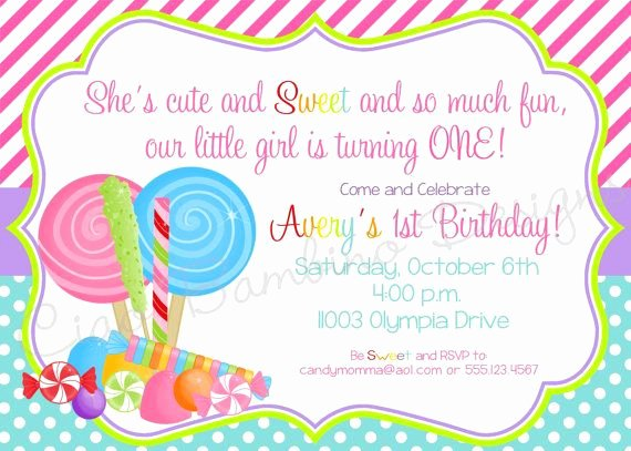 Free Candyland Invitation Template Inspirational Diy Printable Sweet Shoppe Lollipop Invitations Candyland Candy Shop for Any Age On Etsy
