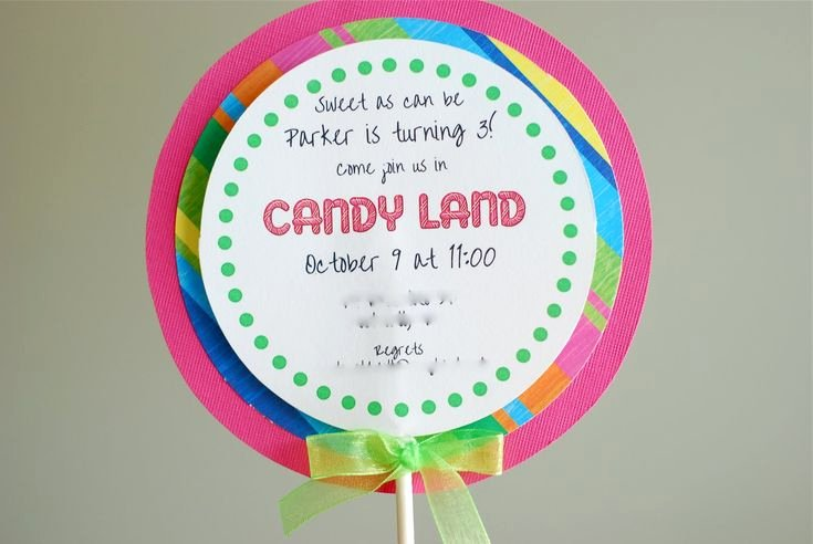 Free Candyland Invitation Template Inspirational Free Printable Candyland Invitation Templates