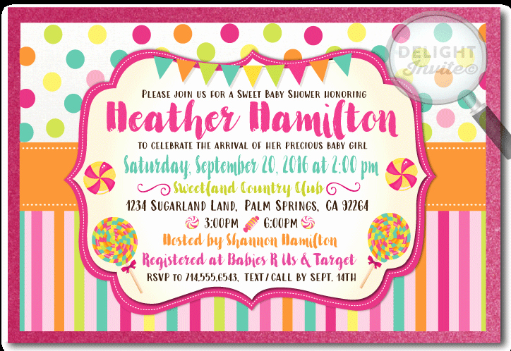 Free Candyland Invitation Template Lovely Free Printable Candy Baby Shower Invitation Template