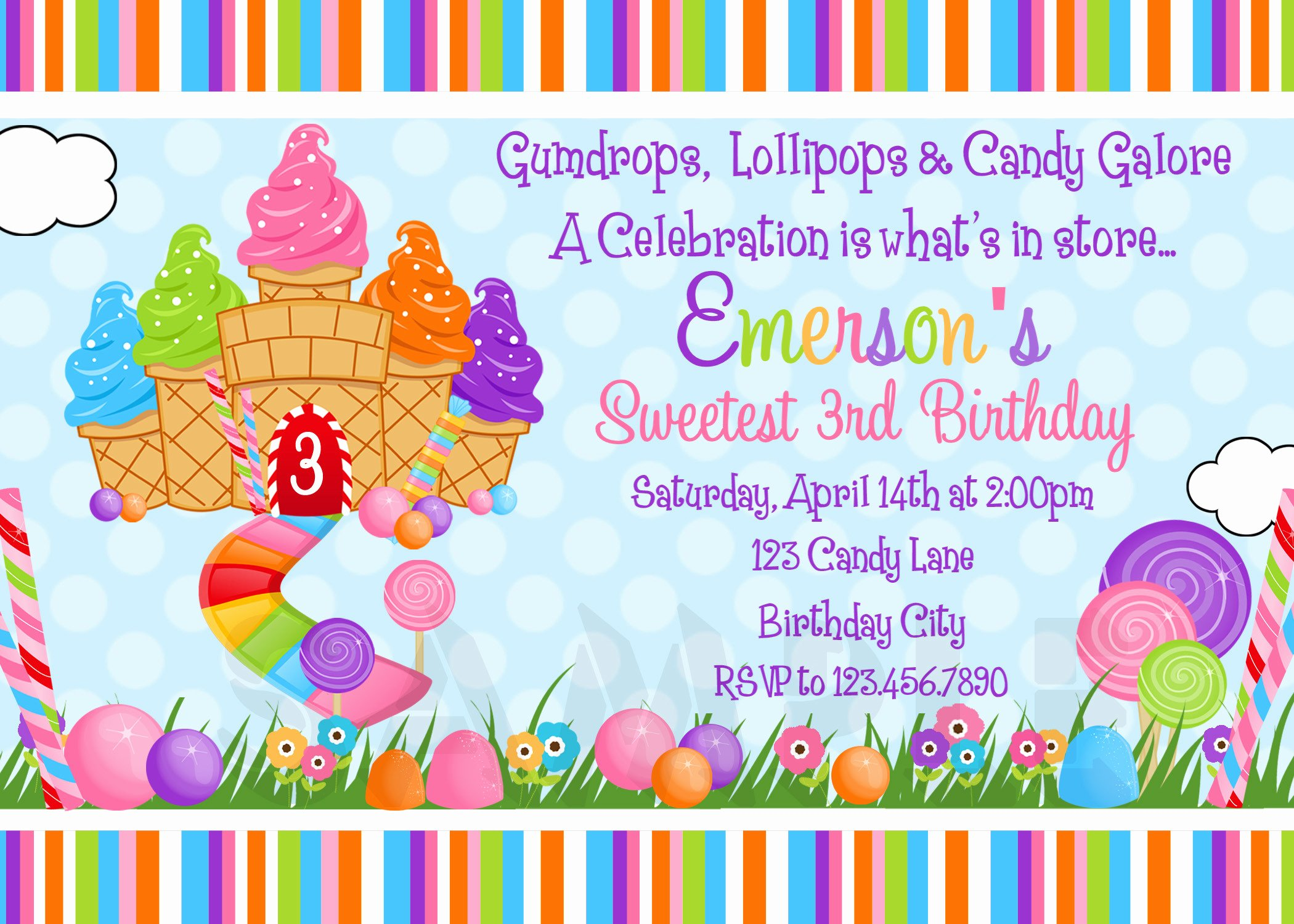Free Candyland Invitation Template New Candyland Background ·① Wallpapertag