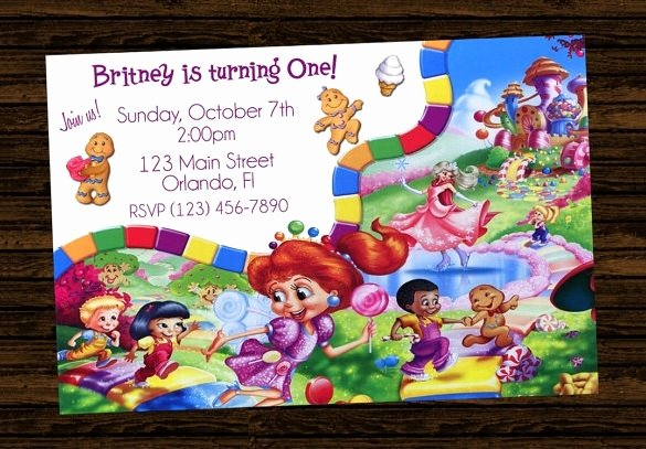 Free Candyland Invitation Template New Candyland Invitations Printable Cobypic