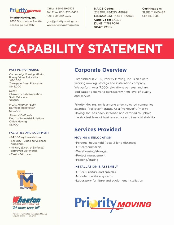 Free Capability Statement Template Word Beautiful Business Capability Statement Template