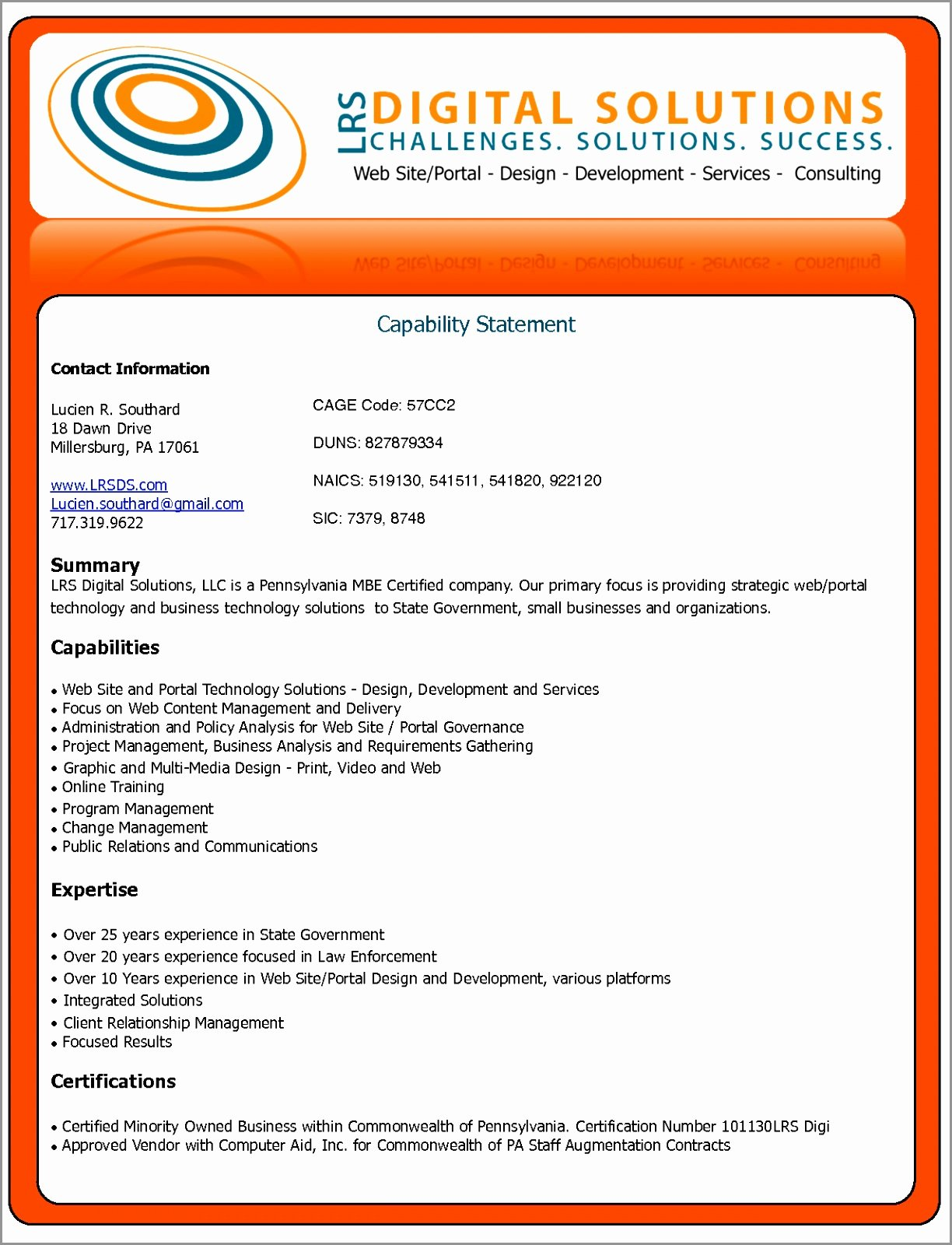 Free Capability Statement Template Word Beautiful Sample Capability Statement Templates – 15 Free Documents Example Capability Statement Template