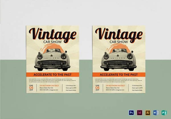 Free Car Show Flyer Template Beautiful 21 Car Show Flyer Templates Psd In Design Ai