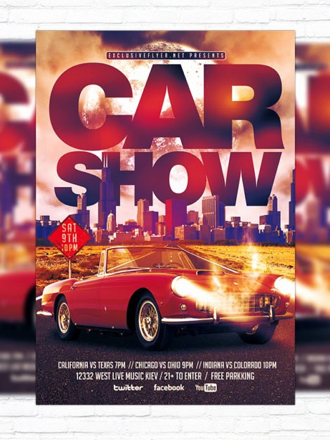 Free Car Show Flyer Template Elegant Car Show – Premium Flyer Template Cover Exclsiveflyer