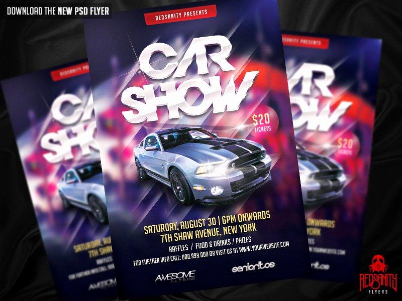Car Show Flyer PSD Template