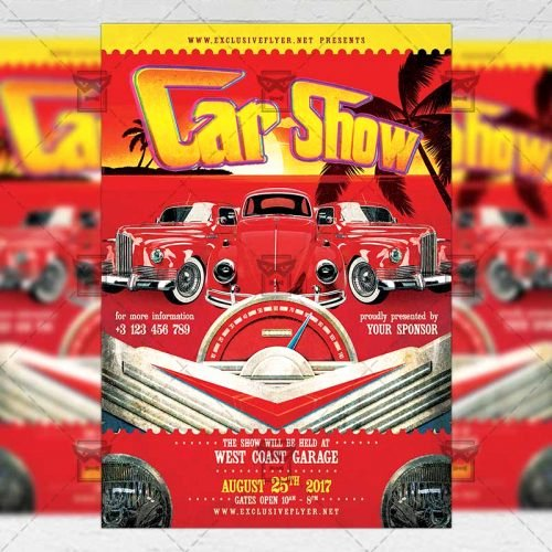 Free Car Show Flyer Template Inspirational Car Show – Premium A5 Flyer Template Exclsiveflyer