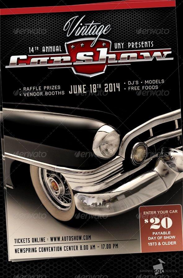 Free Car Show Flyer Template Inspirational Classic Car Show events Flyers Car Show Posters
