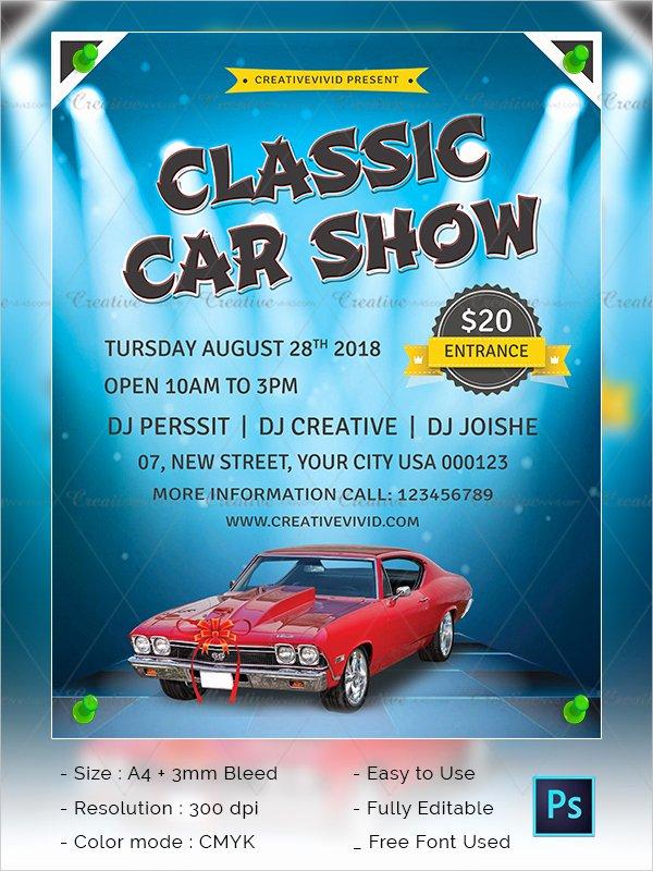 Free Car Show Flyer Template Unique 25 Car Show Flyer Templates Free & Premium Download