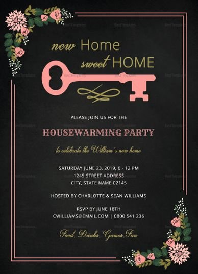 Free Chalkboard Invitation Templates Beautiful Chalkboard Housewarming Invitation Template In 2019 Invitation Card Templates