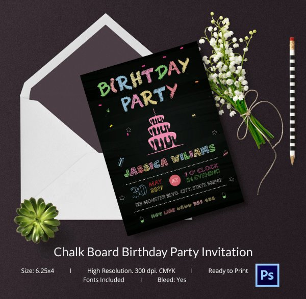 Free Chalkboard Invitation Templates Beautiful Chalkboard Invitation Template 45 Free Jpg Psd Indesign format Download