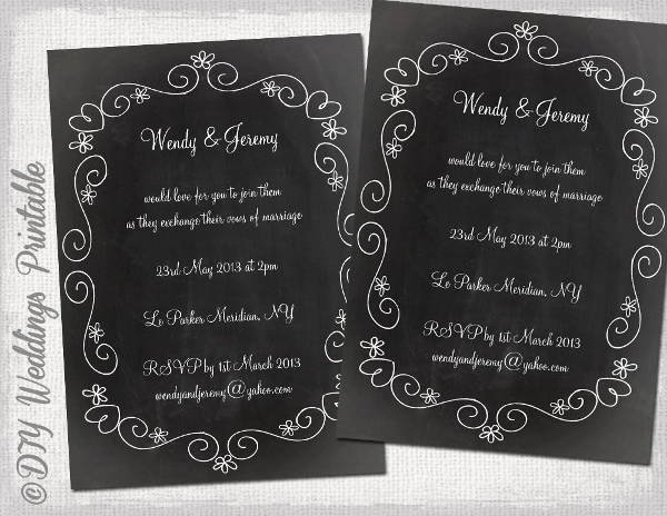 Free Chalkboard Invitation Templates Best Of 9 Diy Invitation Templates Psd Ai