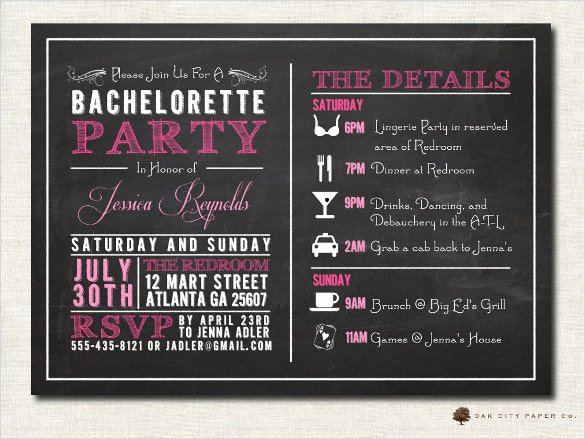 chalkboard invitation template