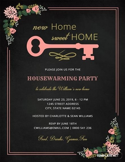 Free Chalkboard Invitation Templates Luxury Free Chalkboard Housewarming Invitation In 2019 Printable Invitations