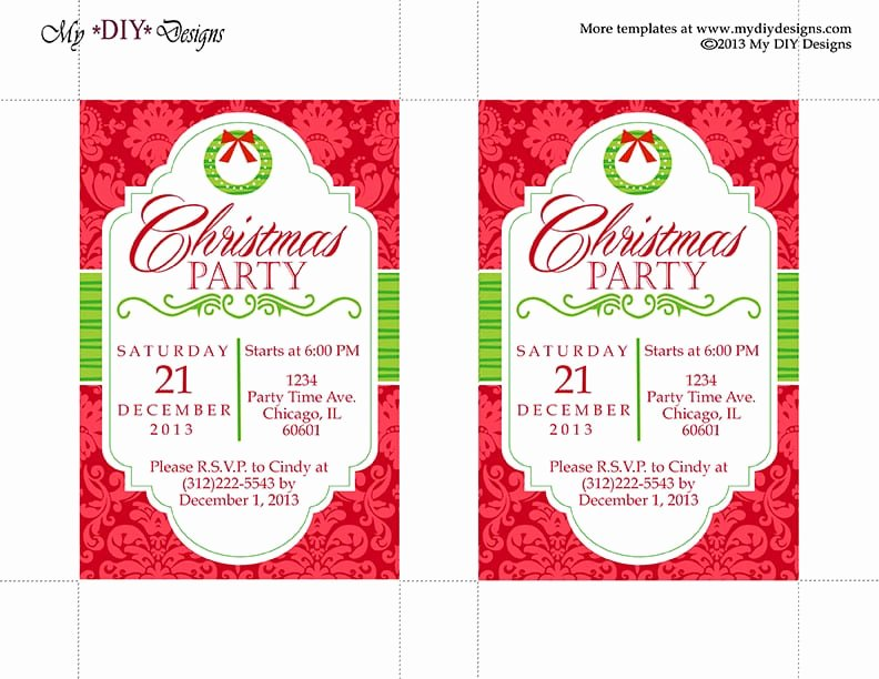 Free Christmas Invitation Templates Word Beautiful Christmas Invitation Template