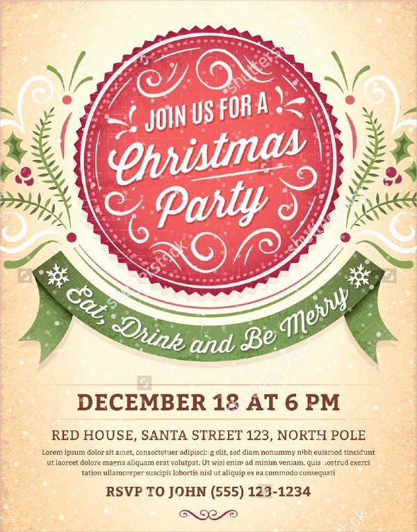 Free Christmas Invitation Templates Word Best Of 32 Christmas Party Invitation Templates Psd Vector Ai Eps
